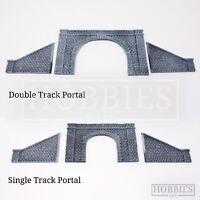 Javis Tunnel Portal Double Single Track Side Walls Resin Model Kit OO HO Gauge