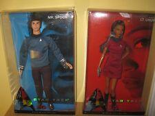 Star Trek Mr Spock Lt Uhura Ken Doll Barbie Pink Label 50th Anniversary 2008