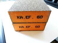 KA.EF. 2 x Schleifschwamm Korn 60 Schleifmatte Schleifpad Vlies Schleif