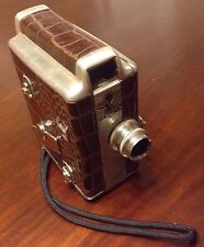 Vintage 1947 BriSkin  8mm Camera with Alligator , Leather Case.