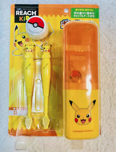 Pokemon Pikachu Reach Kids Toothbrush 5 Pieces Set for Mobile Limited Edition