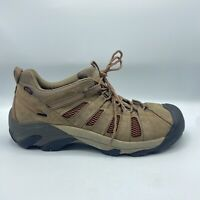 Keen Voyager Hiking Shoes Brown Leather Vented 1002577 Men's 15