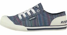 Rocket Dog Womens Trainers Jazzin Navy Blue Striped Canvas Shoes Pumps in Size 3