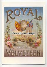 ad0433 - Royal Velveteen - Fabric - imitation Velvet - Modern Advert Postcard