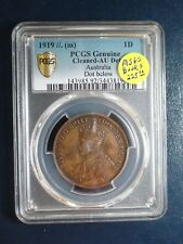 1919 Australia Penny PCGS AU DOT BELOW 1P  Coin PRICED TO SELL NOW!