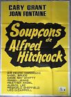 Affiche SOUPCONS Suspicion ALFRED HITCHCOCK Cary Grant JOAN FONTAINE R120x160cm*