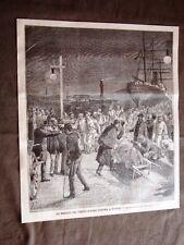 Guerra in Africa nel 1896 Feriti Battaglia Abba Garima sul Sumatra Sbarco Napoli