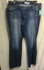 NWT WOMENS PLUS SIZE 18 STRETCH DENIM DISTRESSED JEANS BY MAURICES #826