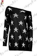 Lange Damen-Pullover & -Strickware mit Sterne Normalgröße