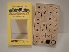 PSX Rubber Stamp Creative Characters Typewriter Lower Case Set/28 Wood Mount