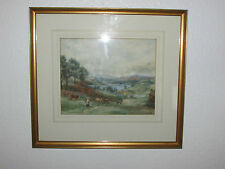 Antique Original Watercolor Painting , Signed By Challes Herburn Scott