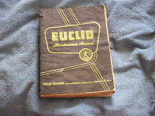 Euclid Maint Manual 27 & 29 LDT Scraper Rear Dump 1959