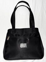 Donna Karan DKNY New York Black Nylon w/ 2 Separate Zipper Sections Shoulder Bag