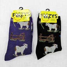2 Pairs Womens Girls Farm Animal Goat Print Foozys Print Novelty Fun Socks