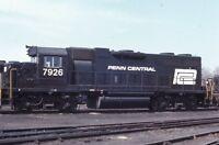 PENN CENTRAL Railroad Locomotive 7926 Original 1971 Photo Slide