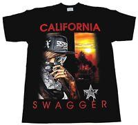 CALIFORNIA SWAGGER T-shirt Cali Swag Urban Streetwear Tee Men  Black New