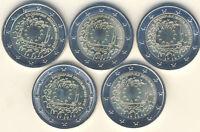 """2 Euro Gedenkmünze 2015 Deutschland 30 Jahre Europaflagge """"F"""""""