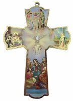 The Annunciation of Our Lady with Holy Dove Wooden Wall Cross Crucifix (6 Inch)