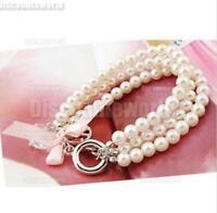Bangle Crystal Fashion   Wristband  Bracelet Hot Cuff  Women  New Style Pearl
