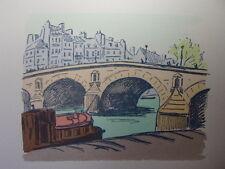 73/  AQUARELLE PARIS / Le Pont Marie