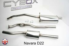 NISSAN NAVARA D22, CYBOX STAINLESS STEEL EXHAUST SYSTEM
