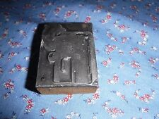 Antique Printing Block Metal  Wood  ?? Possible Camera Maybe Mouse Logo
