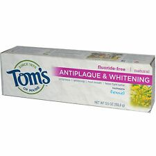 Tom's de Maine, Antiplaque & DENTIFRICE BLANCHISSANT, SANS FLUOR , fenouil 156ml