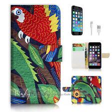 ( For iPhone 7 Plus ) Wallet Case Cover P3074 Parrot