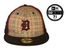 Men's Plaid and Black Detroit Tigers MLB 59FIFTY Cap: Size 7 3/8
