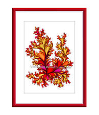 Fall Bloom Original Digital Giclee Art Print 10x8 by Velislava Kovatcheva