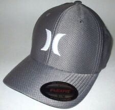 MENS HURLEY SILVER GRAY HAT FLEX FIT FITTED CAP SIZE S/M
