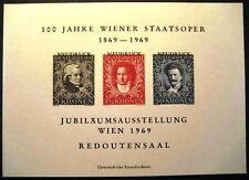 1969 AUSTRIA ÖSTERREICH  WIENER STAATSOPER  NEUDRUCK FOGLIETTO PERFETTO