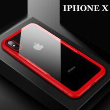 Ultra Strong Tempered Glass Back Case Clear Shockproof Cover For iPhone X 8 7 6+