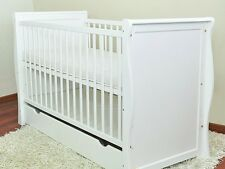 BABY COT BED/COT BEDS/BABY COT WITH DRAWER/JUNIOR BED + FOAM FREE  MATRESS