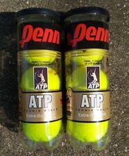 2 Cans Penn Atp Tennis Balls Professional Extra Duty Felt (6 balls) Brand New