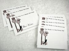 Alternative Wedding Guest Book Set of 36 Vintage style Key & Bird Advice Cards
