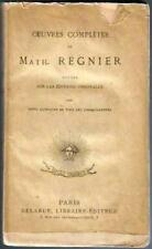 Oeuvres complètes de Math. Regnier. Delarue vers 1880