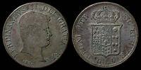 pci1049) Napoli Due Sicilie Ferdinando II piastra 1834 UNCLEANED !!!
