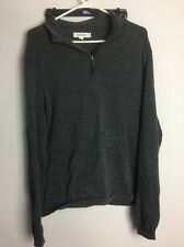 Calvin Klein Quarter Zip Sweater Size Large Charcoal Grey Pullover