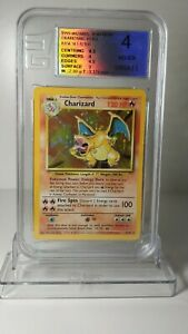 Charizard Base Set Holo Unlimited English graded by European Grading VG-EX 4