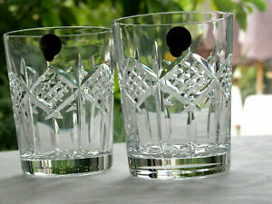 Waterford Crystal Grainne Large Whiskey Tumbler Pair 12 oz. New made in Ireland