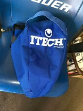 Itech Profile Goal mask Goalie Ice Roller Hockey Helmer Bag Vintage Blue