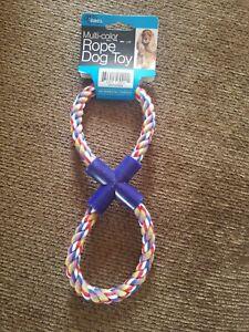 Duke's Figure 8 Multi-Colored Rope Dog Toy
