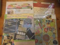 Lot of 4 Scrapbook Album Embellishment Craft Paper & Page Kits NEW