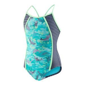 Girls Speedo Dolphin One Piece Swimsuit size 16 NEW NWT