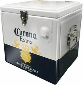 Official Corona Strong Aluminium Retro Cooler Box (With Bottle Opener)