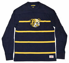 Polo Ralph Lauren Rugby Mens Varsity Bulldog Sweatshirt Shirt Navy Yellow Medium