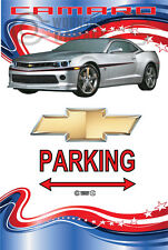Parking Sign - Chevy Silver Camaro RS 2015 American Stars and Stripes Look