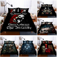 3D Skull Blood Rose Bedding Set Duvet/Quilt/Comforter/Doona Cover Pillowcase