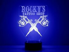 Tattoo Shop LED Night Light Lamp with - Personalized Name - Tattoo Artist Gift